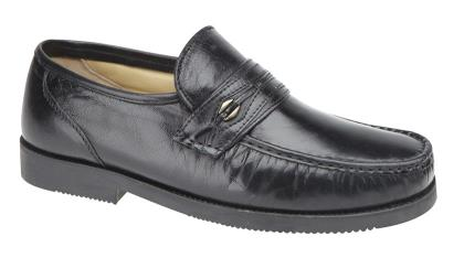 Scimitar Mens Shoes M478A Scimitar Saddle Trim Moccasin Leather  Lining.Extra Wide Fitting Upper -