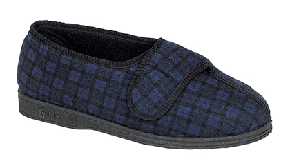12d5ddc49abd Mens Velcro Slippers MS403C Comfylux  GEORGIE  Superwide Velcro Slipper  Washable - EEE EEEE