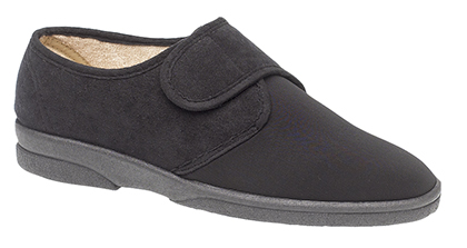 04d027f39ab MS464A SLEEPERS  ARTHUR  Superwide stretch Velcro Slipper Washable - EEEE  Fitting Upper - Black